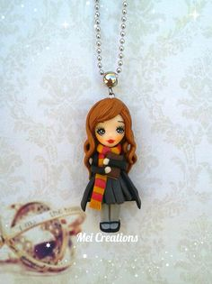 Hermione Harry Potter bambolina fimo, handmade polymer clay doll. Follow me on facebook.com/meicreationsbijoux