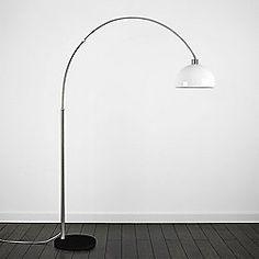 MiniSun Curva Giant Marble Floor Lamp with White Marble Base - White