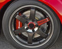 "17"" Volk Racing T37 wheels on 2013 Mazda MX-5 Super25"