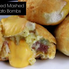 Loaded Mashed Potato Bombs
