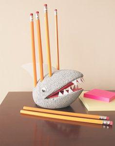 Craft Ideas : Projects : Details : shark-pencil-holder