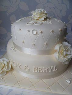 60th wedding anniverary cake   Diamond-60th wedding anniversary cake   Flickr - Photo Sharing! Diamond Wedding Anniversary Cake, Diamond Wedding Cakes, 60th Anniversary Parties, Anniversary Ideas, Sparkly Wedding Cakes, Themed Wedding Cakes, Fall Wedding Cakes, Wedding Ideas, Engagement Cakes