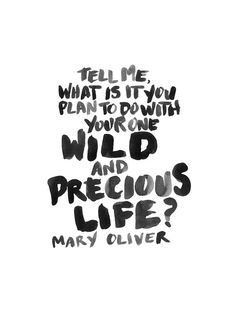 What do you plan to do with your precious life?