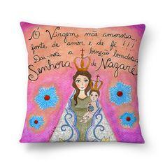 Senhora de Nazaré, Rainha da Amazônia, padroeira dos paraenses! Rogai por nós!  #almofada #sementinhascorderosa #caroldib #colab55 #almofadailustrada