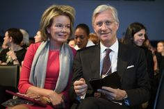 King Philippe Pictures tumblr: King Philippe and Queen Mathilde at the World Economic Forum, in Davos, Switzerland.  18-01-2017