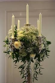 Image result for real flower candelabra ideas for church wedding