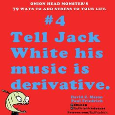 Try this #one to majorly increase your #stress. @dm4son #jackwhite #music