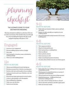 Take the stress out of destination wedding planning with this printable checklist.