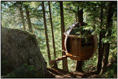 Awesome suspended treehouse in Whistler: hemloft