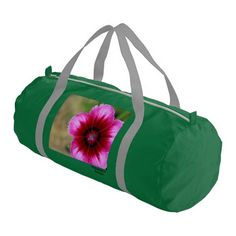 Pink Flower Gym Duffel Bag