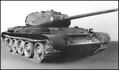 T-44 another prototype, armed in 85 mm gun. On this prototype the drivers hatch was moved entirely to the top of the hull and the vision flap was deleted from the design though a drivers vision slot remained in the glacis plate..