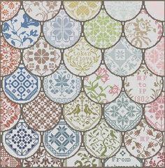 free chart quaker cushion cross stitch