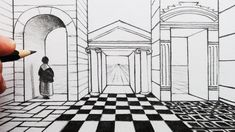 How to Draw 1-Point Perspective for Beginners: Grid and Arch - YouTube