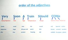 Fun and Simple: Adjective Order | Blog de Cristina