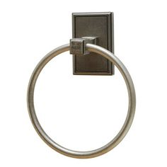 Residential Essentials Hamilton Towel RingA beautifully styled bathroom is not complete without a fashionable towel ring. The Hamilton Towel Ring from Residential Essentials is made of die cast zinc and is part of a collection of matching bathroom accessories. The 6 3/8-inch ring is attached to a square back plate in choice of six beautiful finishes. Bathroom Accents, Towel Rings, Back Plate, Bathroom Accessories, Hamilton, Pewter, Wall Mount, Door Handles, Restoration