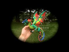 Part 1/4 Rainbow Loom Glory/RainWing from Wings of Fire (1 Loom) - YouTube. Wow, pretty! All 4 videos are available on her channel.