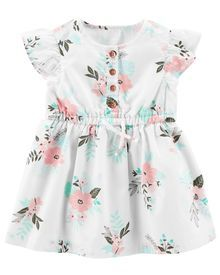 Floral Flutter-Sleeve Dress - Eleanor Baby Name - Ideas of Eleanor Baby Name - The perfect party dress! Featuring floral detail flutter sleeves and a separate diaper cover this soft cotton dress will have all eyes on her. Carters Dresses, Baby Girl Dresses, Baby Outfits, Toddler Outfits, Baby Dress, Kids Outfits, Dress Set, Baby Girl Fashion, Toddler Fashion