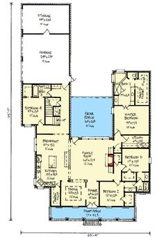 Plan 14177KB: Acadian Home Plan With Outdoor Living Room