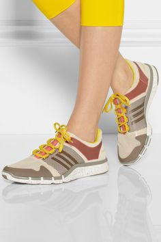 Adidas by Stella McCartney|Adipure mesh and rubber sneakers - I want these!
