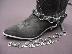 Hey, I found this really awesome Etsy listing at https://www.etsy.com/listing/37122216/westernbiker-boot-chains-metal-ring