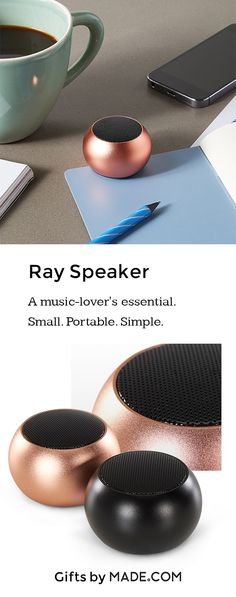 Love your music? Take it with you. Our mini portable bluetooth speaker is just 4.5cm in diameter. It fits in your pocket or bag, so you'll never be without your backing track.Ray connects to any bluetooth enabled device, including iOS, Android and Windows. Use the mini USB port to charge for up to 4 hours portable playback when you're out and about. It comes gift wrapped ready for you or the recipient.