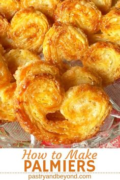 Palmier Pastry-You can learn how to make palmier recipe from scratch with quick puff pastry. This sugar palmier pastry is perfect for holiday season and so easy to make with simple ingredients! Palmier Pastry-You can lea Köstliche Desserts, Delicious Desserts, Yummy Food, Easy Baking Recipes, Cooking Recipes, Easy Puff Pastry Recipe, Short Bread, Pastry Cook, Recipe From Scratch