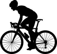 Free Image on Pixabay - Cyclist, Bicycle, Bike, Ride Free Pictures, Free Images, Public Domain, Snow Activities, Image Font, Laser Art, Silhouette Vector, Silhouette Design, Scroll Saw Patterns