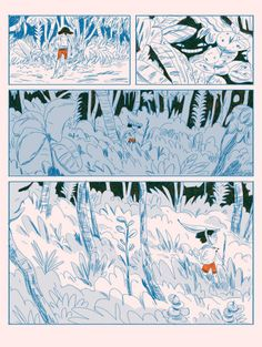 "Natalie Andrewson ""Lemon and Ket"" Comic Book Layout, Bd Art, Graphic Novel Art, Design Comics, Book Illustration, Oeuvre D'art, Art Inspo, Art Reference, Comic Art"