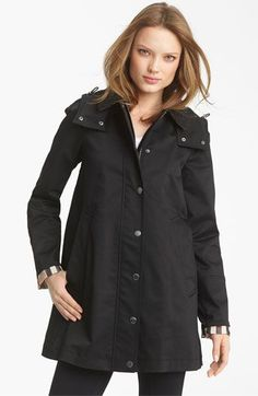 Burberry Brit 'Bowpark' Raincoat with Liner available at #Nordstrom  Perfect for rainy weather when it gets cold :) #RaincoatsForWomenWeather