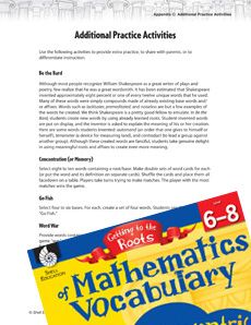 Give your students some additional practice with #math vocabulary with these fun activities and games including Go Fish and Twenty Questions! #CCSS Grade: 6-8