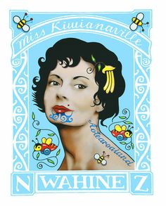 Miss Kiwiana by Lester Hall for Sale - New Zealand Art Prints Nz Art, Art For Art Sake, Maori Designs, New Zealand Art, Maori Art, Kiwiana, Stamp Printing, Art Pictures, Design Art