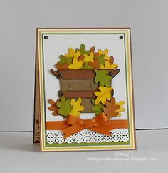 Fall Card basket- doodle charms at 2''