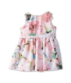 Pippa & Julie Floral Belted Baby Girls Dress