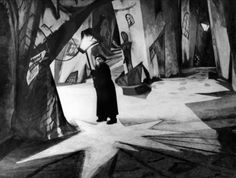 Cabinet of dr Caligari Dr Caligari, Robert Wiene, German Expressionism Film, Tv Movie, Movies, Film Images, Film Inspiration, Vintage Horror, Matte Painting