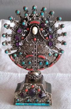 TRÈS BELLE SCULPTURE EN ARGENT de MATILDE POULAT MATL,CORAIL,TURQUOISE , MEXICO Rings N Things, Sculpture, Just Love, Coral, Beautiful, Mantra, Mexico, Silver Rings, Ebay
