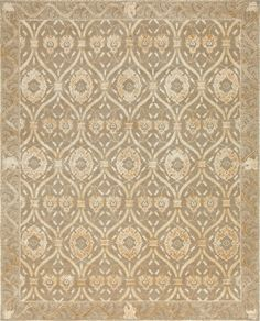 Savannah, Putty - This collection combines traditional patterns with a modern day aesthetic to create perfect designs for a transitional style.  These classically refined and ethically crafted Tibetan rugs combine the unique style and unequaled craftsmanship that New Moon is best known for.