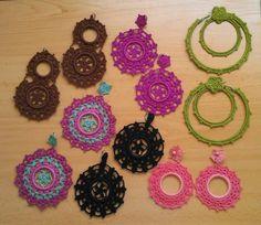 Pendientes de crochet realizados mano. coralinaweb.blogspot.com.es/p/mr-flamenca.html?m=1