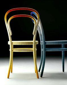 Spool Chair by Keisuke Fujiwara Spool chair Upcycled furniture