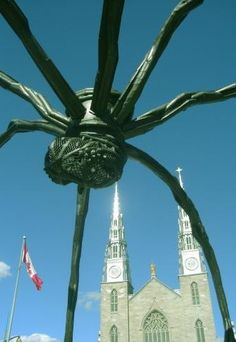 Ottawa Canada -> The giant spider creeped me right out!