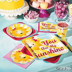 You Are My Sunshine Party Supplies