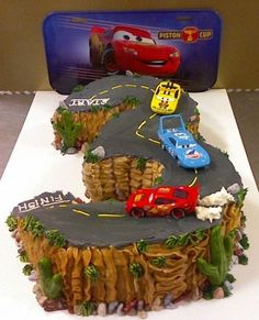 car boy birthday cake