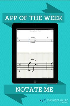 """App of the week: Notate Me. My 7-year-old demonstrates how to handwrite music notation on the iPad and see it transformed into digital """"printed"""" music.  http://www.midnightmusic.com.au/2014/02/app-of-the-week-notateme/"""