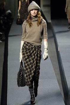I love this wrap around skirt make out of flannel