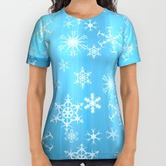 Buy Snowflakes, snowflakes All Over Print Shirt by thea walstra. Worldwide shipping available at Society6.com. Just one of millions of high quality products available.