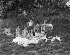 George Tice - Picnic on Garret Mountain, Paterson, NJ, 1968.