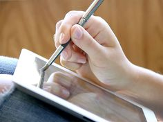"""this brush for """"painting"""" on capacitive devices (such as the iPad.)"""