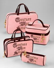 Juicy Couture Makeup Bags..Syd is obsessed with Juicy- don't know why but ok- she can have them!