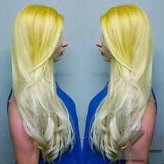 "UK Hairstylist Jaymz Marsters used #Sunshine and #Pastelizer for this delicious ""Lemon Drop"" look."