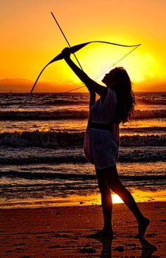 """""""Sunset archer"""" Exquisite Beauty. She the Warrior Woman is in ALL of us."""