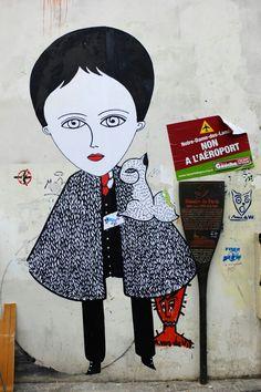 Fred le Chevalier Street Art - Paris, 20 rue Julien Lacroix
